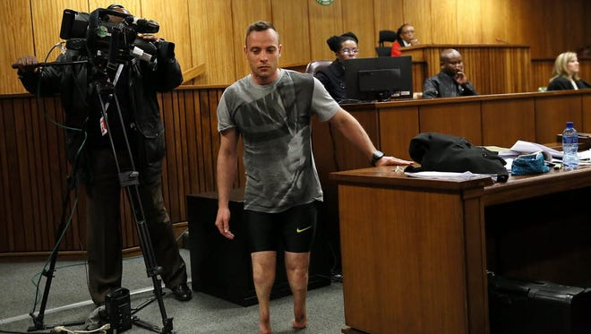 Oscar Pistorius in court on Wednesday.