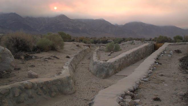 "A reservoir in Manzanar is seen in this photo taken by the filmmaker of ""Manzanar, Diverted."""