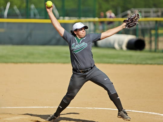 Mason's Elle Buffenbarger pitches a complete game shutout