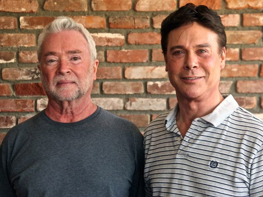 Bernie's Lounge owners Rand Howell (left) and Geoff McIntosh (right) pose for a photograph on Monday.