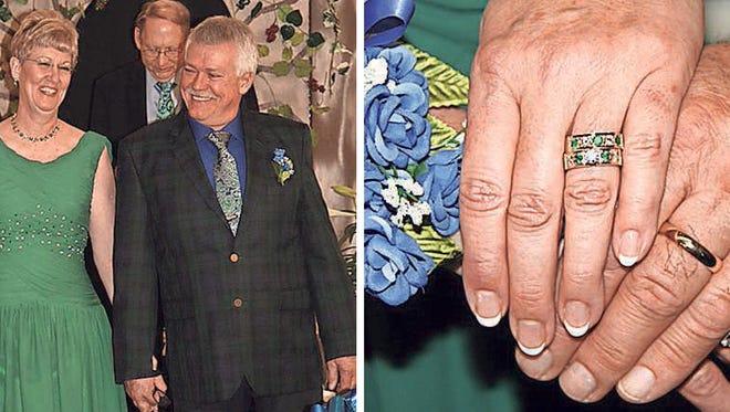 Chris and Lori Gibson renew their marriage vows.