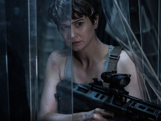 Katherine Waterston tries to stay alive with a dangerous
