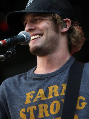 Tucker Beathard performs at the Back Porch Revival