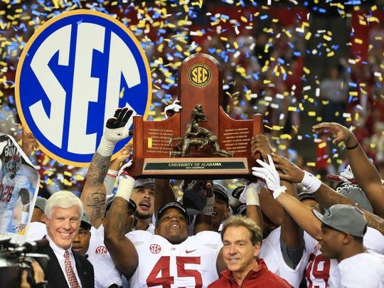 NCAA Football: SEC Championship-Missouri vs Alabama