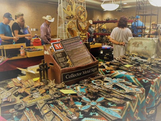 Art, crafts, and metal art were among the numerous items at the All-American Gun & Western Collectible Show Saturday and Sunday at the Ruidoso Convention Center.