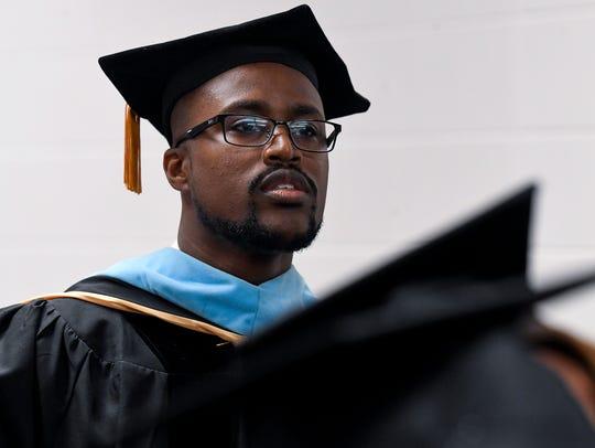 Lanier High School principal Antonio Williams during