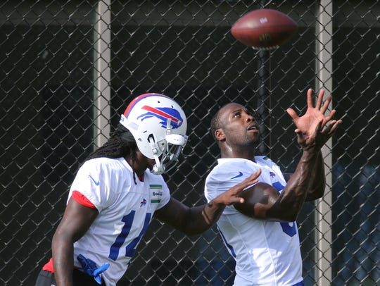 Bills receiver Sammy Watkins works with newly acquired