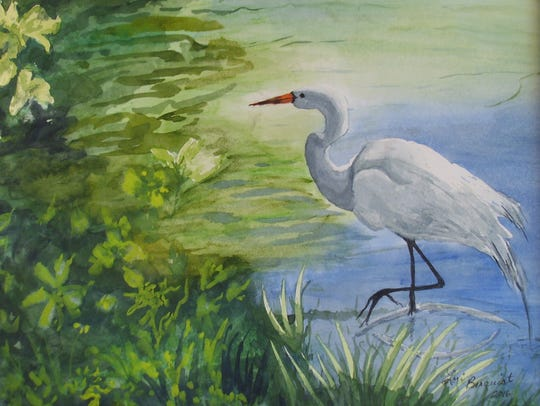 Work by Sartell artist Lori Berquist is on display.