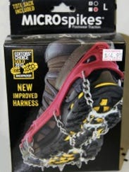 For him: MICROspikes