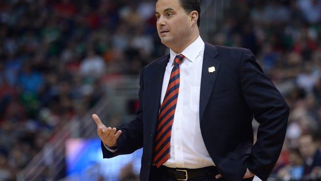 Arizona Wildcats head coach Sean Miller.