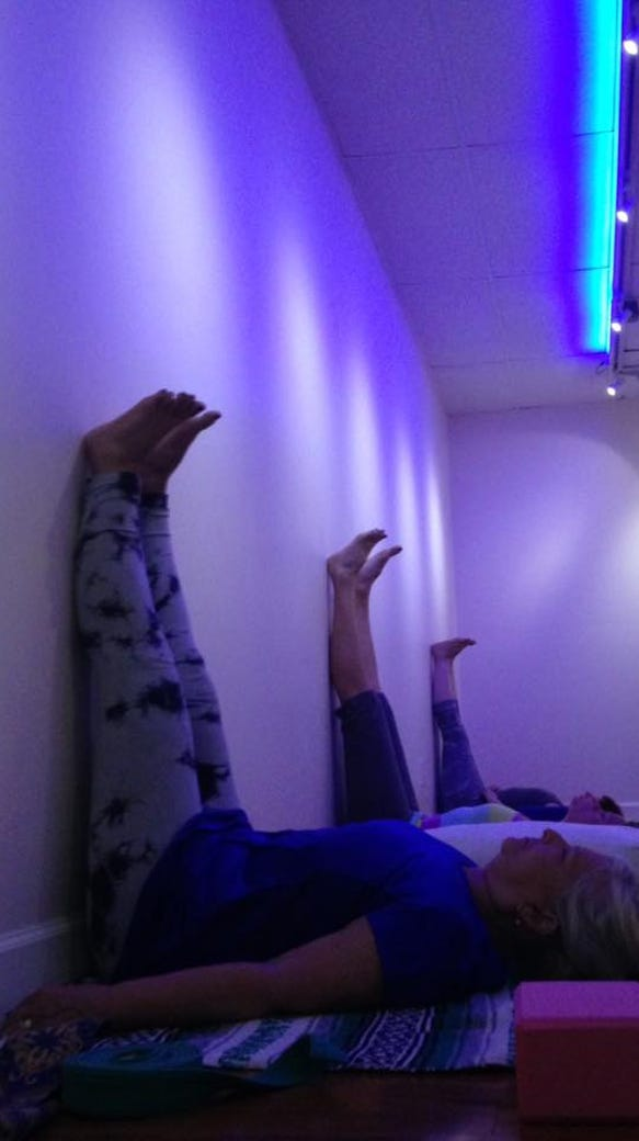 Innovative Classroom Yoga ~ Upside down and against the wall a wilder side of yoga