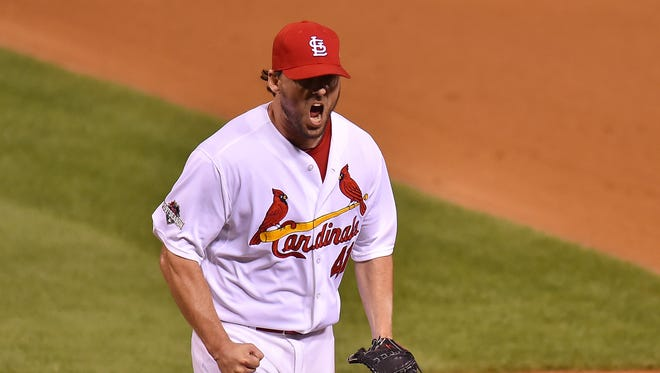 John Lackey  went 13-10 with a 2.77 ERA in 33 starts last season for the Cardinals.