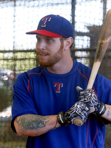 Josh Hamilton struck out once and hit three grounders