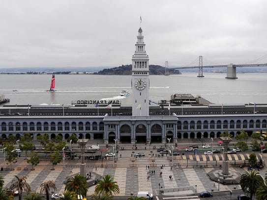 The San Francisco Ferry Building in San Francisco,