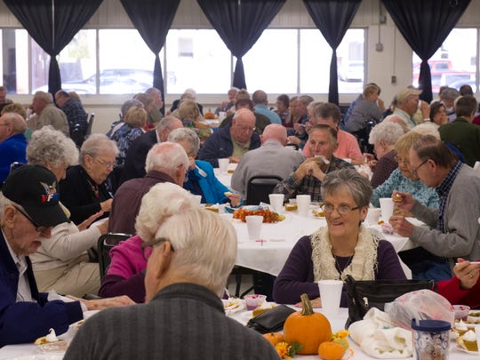 SWIRCA & More's annual Thanksgiving Lunch drew hundreds of seniors for a well-priced turkey meal last Thursday.