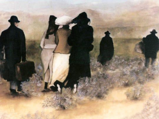 A silent auction during the Zarzuela Arias fundraiser