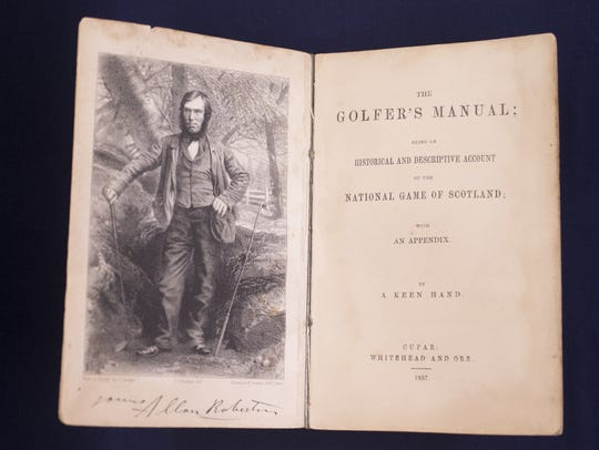 An original printing of Golfer's Manual, dated 1857,