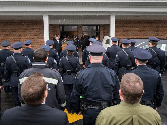 Law enforcement officers from Port Huron, St. Clair