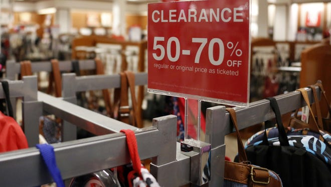 Inside a J.C. Penney store in Pittsburgh, Pennsylvania. J.C. Penney  will close 138 stores nationwide.