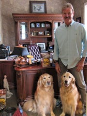 Veterinarian Dr. Randy Lange brings ambassadors JJ and Josh 3.0 to work every day at Lange Veterinary Hospital.
