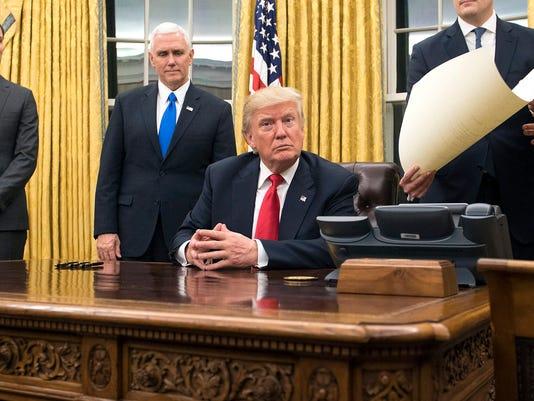 Trump inauguration White House