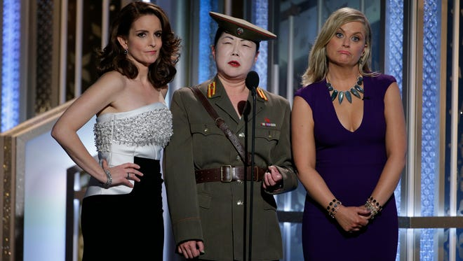 Tina Fey and Amy Poehler's third Globes stint  as hosts slipped in the ratings.