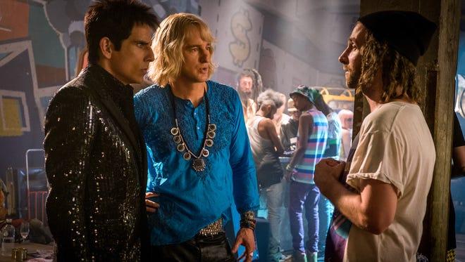 Ben Stiller, from left, Owen Wilson and Kyle Mooney in 'Zoolander 2.'