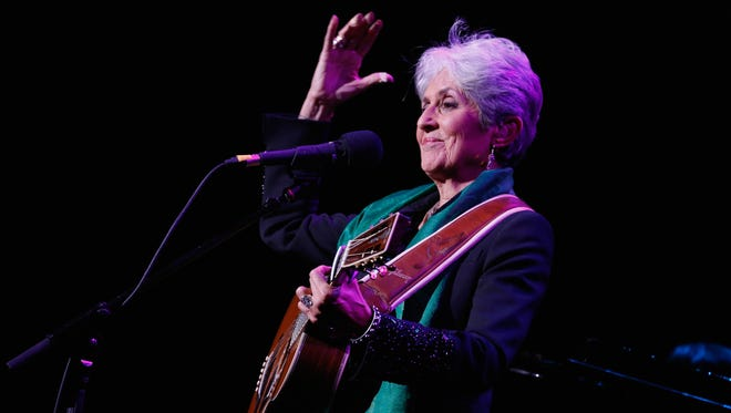 Joan Baez, who broke into the folk scene in the tumultuous '60s, will be in Wilmington on Wednesday.