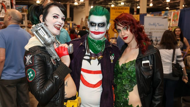 Thousands of comic fans filled the Suburban Collection Showplace in Novi on Friday May 13, 2016 during opening day of the Motor City Comic Con. The three-day event features an array of celebrity guests, collectibles and hundreds of costumed wearing comic lovers.