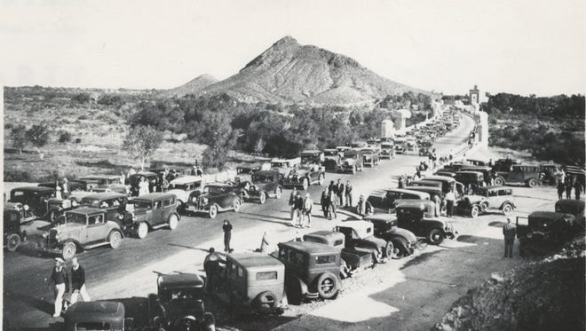 The dedication of Mill Avenue Bridge in Tempe, 1933.