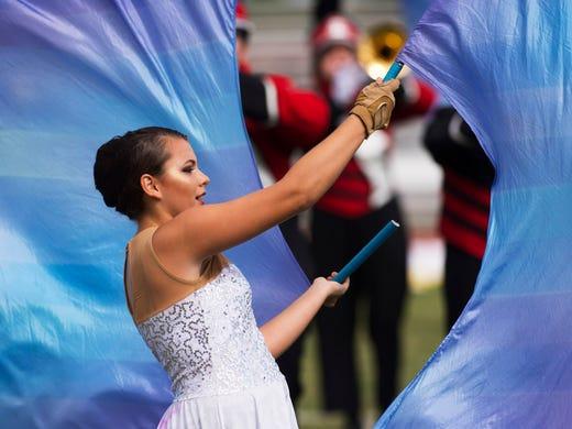 South Fork High School color guard senior Echo Tantillo,