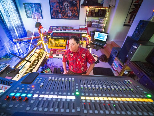A retired engineer, Greg Waltzer spends much of his days making art and music with a variety of synthesizers.