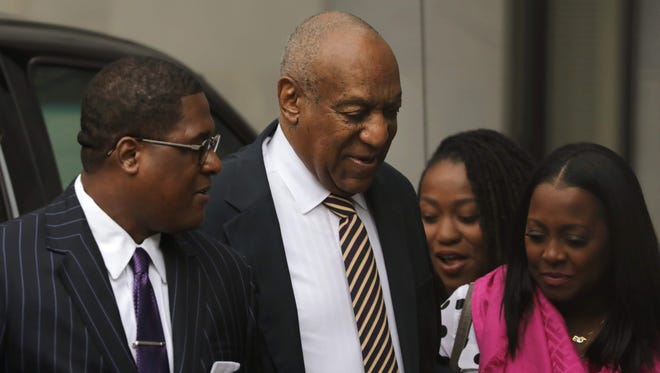 Bill Cosby arrives with Keshia Knight Pulliam (R), who played his daughter Rudy Huxtable on 'The Cosby Show' at the Montgomery County Courthouse June 5, 2017 in Norristown, Pa.