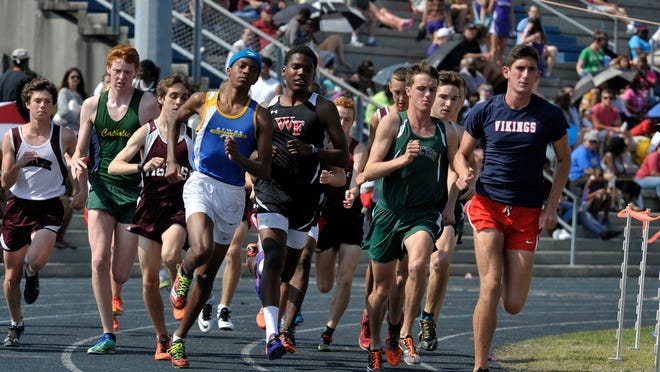 The boys 1600-meter event gets underway Saturday afternoon at the 2015 FCA Panhandle Championships track meet. The West Florida High boys track and field team is positioning itself for a run at the Class 2A state title after winning Saturday's event by a massive team score of 146.50 points.