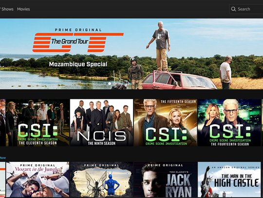 As with Netflix, Amazon Prime Video lets you download