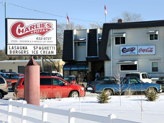 Charlie Peterka, owner of Charlie's Pizza in Little
