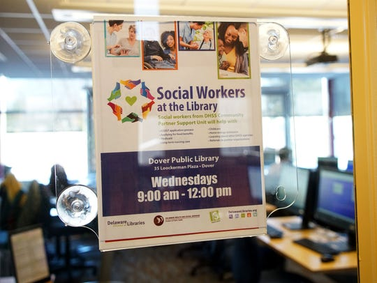 Delaware Health and Social Services has a new program at the Dover Library that has social workers on hand on Wednesdays from 9 a.m.-noon to help guide visitors through the various programs offered by the agency.