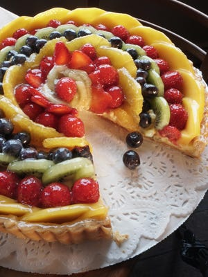 Fruit tarts, one of the most popular items on the menu at Pastiche, are back in two sizes.