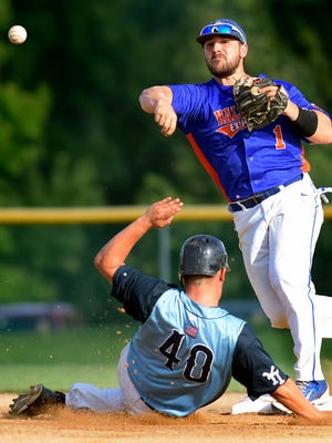 Hallam's Jaron Shimmel had two homers and three RBIs in his return to the Express lineup on Wednesday vs. Jacobus.