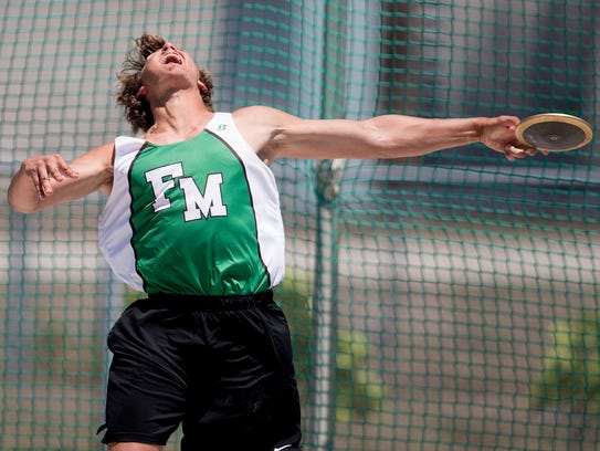 Fort Myers High SchoolÕs Jacob Lemmon won the discus