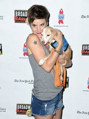 Actress Jenn Colella attends the 19th Annual Broadway Barks! at Shubert Alley on July 8, 2017 in New York City.  (Photo by Nicholas Hunt/Getty Images)