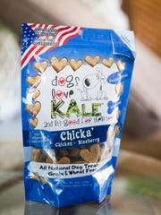 "Paula Savarese's natural dog treat, ""Dogs Love Kale"", on Thursday, March 8, 2018 at Savarese's home in North Naples."