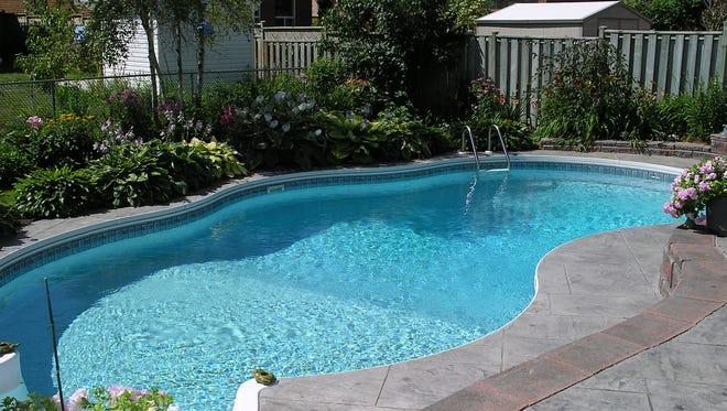 A backyard pool.