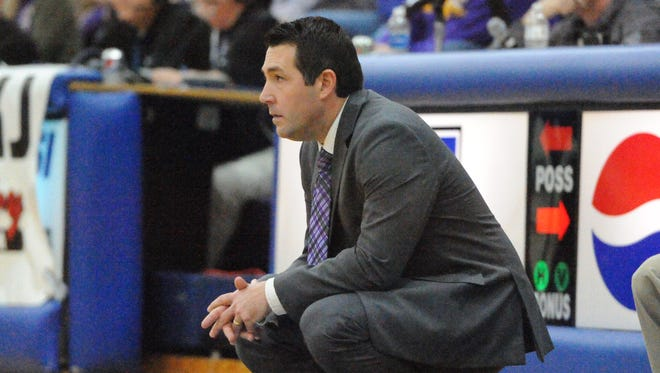 Unioto's Matt Hoops looks on as his Shermans take on McClain this past Saturday in a Division II sectional final at Southeastern High School.