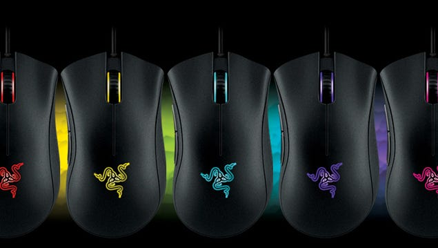 The Razer Deathadder Chroma's LED lights can cycle through a wide range of colors.
