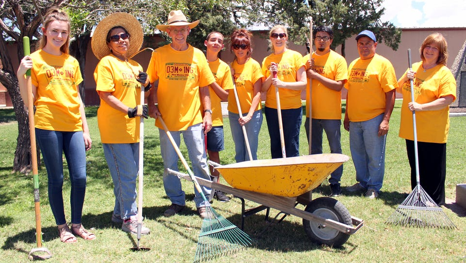 Members of the Misson Deming clean-up crew are, from