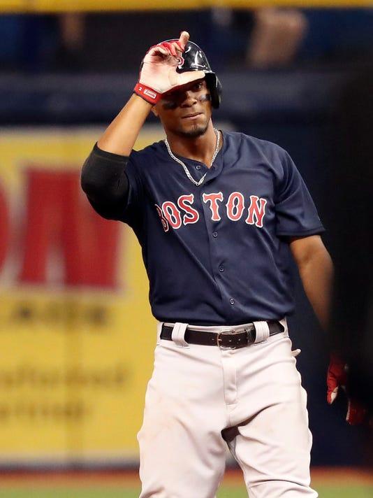 USP MLB: BOSTON RED SOX AT TAMPA BAY RAYS S BBA TB BOS USA FL