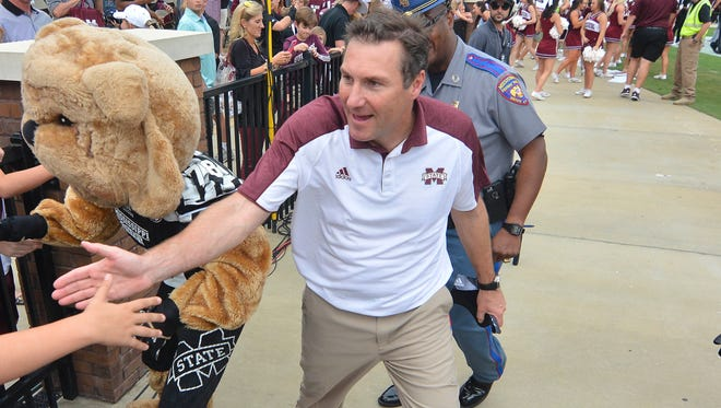 Mississippi State coach Dan Mullen will speak to the media at 1 p.. today.