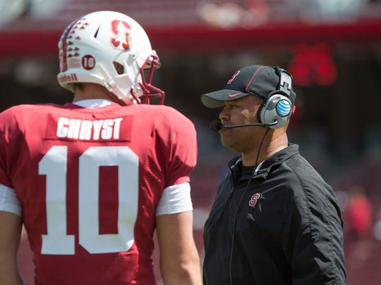 Stanford coach David Shaw has seen three of his football