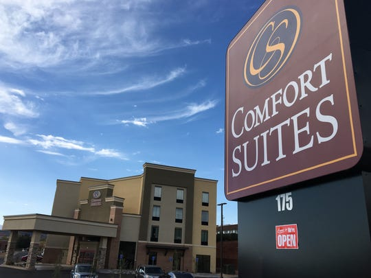 A 91-room Comfort Suites opened this month on 1000